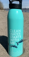 Clean Water Starts With Me water bottle