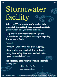 stormwater facility sign