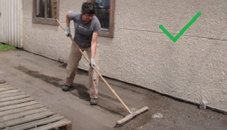 Sweeping and bagging litter and sources of contamination prevents pollution