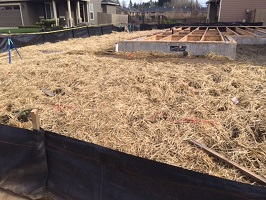 proper erosion control with silt fence and straw